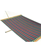 55'' Wide Quilted Fabric hammock - Tricolor stripe