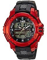 Sonata Ocean Series III Analog-Digital Multi-Color Dial Unisex Watch - 77027PP03J