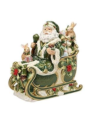 Cosmos Emerald Holiday Holly Santa Cookie Jar