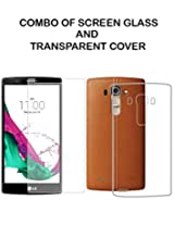 Value Combo Of HD Quality Tempered Glass and Soft Transparent Clear Back Case Cover For LG G4