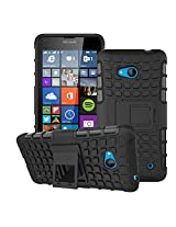 HIGAR Dual Layer Armor Protector Pouch Hard Case Cover For Microsoft Lumia 640 With Higar Retail Box - Black