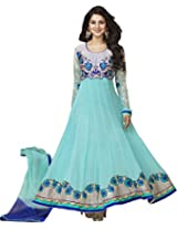 s11012_Kumud Latest Designer cyan Heavy Embroidered Anarkali suit
