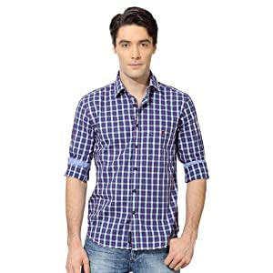 Louis Philippe Ultra Slim Fit Checked Shirt