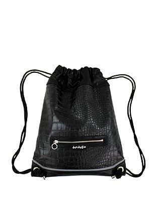 Davidelfín Bolso Back Pack (Negro Cocodrilo)