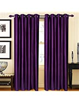 """Home Candy Eyelet Fancy Polyester 2 Piece Door Curtain Set - 84""""x48"""", Purple (SOE-CUR-116_116)"""
