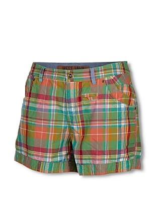Chiemsee Shorts Mary (Verde / Naranja)