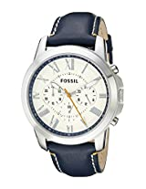 Fossil End-of-Season Chronograph White Dial Men's Watch - FS4925