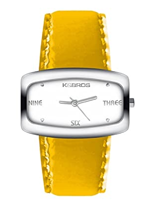 K&BROS 9154-2 / Reloj de Señora  con correa de piel amarillo
