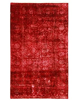 nuLOOM One-of-a-Kind Hand-Knotted Vintage Overdyed Area Rug, Red, 4' x 6' 1