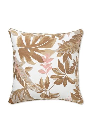 Elsa Blue Rainleaf with Cord Indoor/Outdoor Pillow, 22