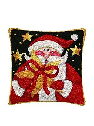 Peking Handicraft Santa's Star Gift Throw Pillow, Multi