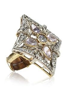 Taara Pink Crystal Adjustable Diamond-Shaped Ring