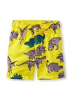 Azul Swimwear Boy's Dinosaurs Boardshorts (Yellow)