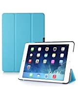 iPad Air 2 Case, i-Blason Apple iPad Air 2 Case [2nd Generation 2014 Release] i-Folio Slim Hard Shell Stand Case Cover [Life Time Warranty] for iPad Air 2 (iPad Air 2, Blue)