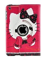 LiViTech(TM) Hello Kitty Design 360 Degree Rotating PU Leather Hard Case for Apple iPad 4 3 2 iPad Mini (iPad Mini Color 3)