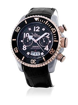 Vip Time Italy Uhr mit Japanischem Quarzuhrwerk VP8016BK_BK schwarz 50.00  mm