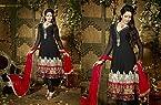 Black Georgette with Embroidery Work Unstitched Anarkali Salwar Kameez Suit