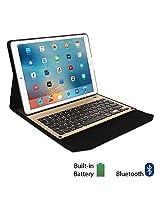 iPad Pro Keyboard Case, GMYLE Ultra Slim Stand Aluminium Folio Case with Integrated Bluetooth Keyboard for iPad Pro - Black