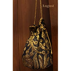 August by Ritu Cipy Drawstring Sequined Bag