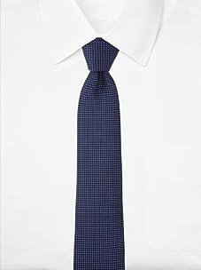Aquascutum Men's Micro Pattern Silk Tie (Black/Purple)