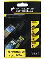 InvisibleShield for LG Optimus L9 - Full Body - 1 Pack - Retail Packaging - Clear