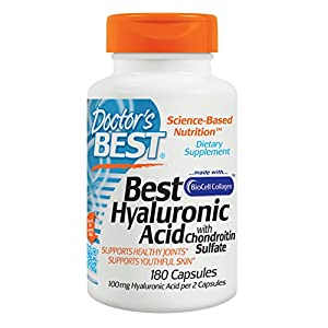 Doctor's Best, Hyaluronic Acid With Chondroitin Sulfate, 180 Capsules