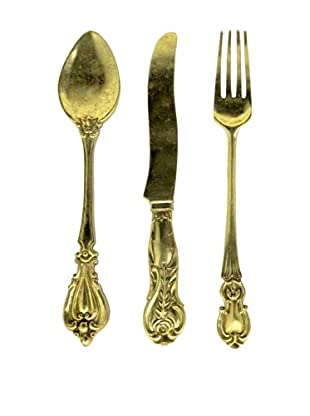 Three Hands Set of 3 Knife, Fork & Spoon Wall Decorations