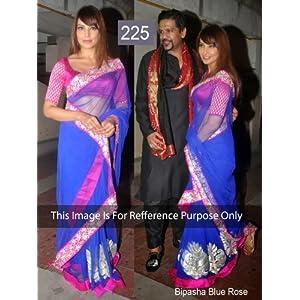 Ram Chand Punam Chand Bipasha Basu Saree - Blue