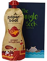 Paper Boat Ginger Lemon Tea, 750ml with Free Jungle Book