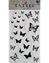 GGSELL GGSELL KING HORSE New design black butterflies temporary tattoo stckers