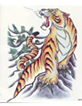 GGSELL GGSELL EXTRA LARGE Size: 7.87 x 8.66 Inches waterproof and fashionable oversized male models tiger totem temporary tattoos for half back