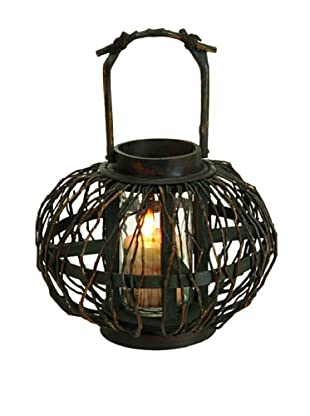 Bamboo & Glass Lantern I