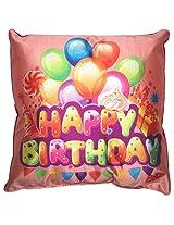 Twisha Happy Birthday Balloon Pillow 12 X 12 X 4 Inch