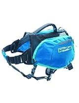 Outward Hound DayPak Dog Backpack Adjustable Saddlebag Style Hiking Gear for Dogs, Medium, Blue
