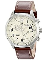 Timex Mens T2N932DH Stainless Steel Watch with Leather Band