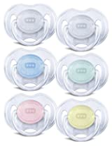 Philips AVENT Translucent Orthodontic Infant Pacifier Clear 0-6 Months