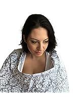 DsGNbaby Nursing Cover Adjustable Strap Rigid Neckline Terrycloth Pockets - Gray