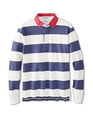 GANT Rugger Men's Block Stripe Heavy Polo (Pilot Blue)