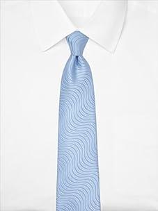 Nina Ricci Men's Swirl Tie, Blue