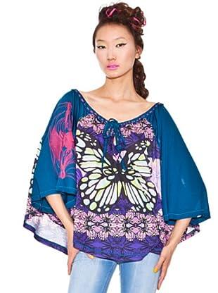 Custo Barcelona 2390025 Damen Shirts/ T-Shirts (Blau (Blau 4002))