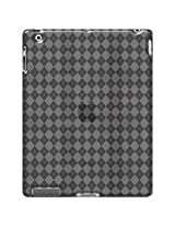 Amzer Luxe Argyle High Gloss TPU Soft Gel Skin Case Cover for Apple iPad 3, The ipad 3rd Gen - Clear