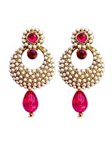 HI LOOK Pearl Studded Earring for women