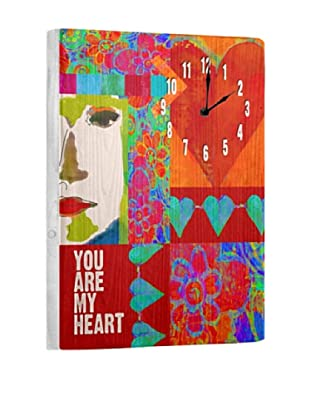 You are my Heart Reclaimed Wood Clock