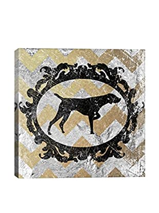 Pointer Yellow & Gray Gallery Wrapped Canvas Print