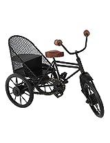 Onlineshoppee Decorative Miniature of Metal Rickshaw