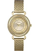 Timex Fashion Analog Champagne Dial Women's Watch - T2P232