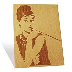 Engrave Audrey Hepburn Plaque (Multicolor)