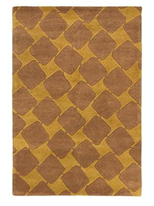 Handmade Aurora Wool Rug, Brown/Dark Gold, 5' 3