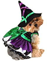 Anit Accessories 12-Inch Scary Witch Dog Costume, Small