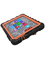 Gumdrop Cases Hideaway Rugged Case with Stand for Dell Venue 8 Pro Atom Tablet (Black-Orange)
